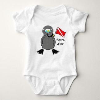 Body Para Bebé Buceador del futuro del tipo del equipo de
