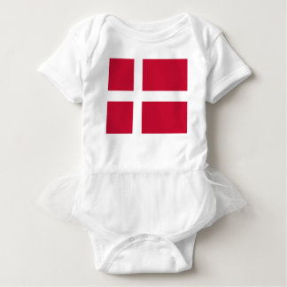 Body Para Bebé Buena impresión de la bandera de Dinamarca del