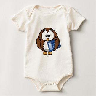 Body Para Bebé Búho con la calculadora, matemáticas, estudiante,