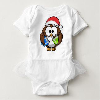 Body Para Bebé Búho del navidad