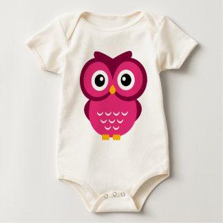 Body Para Bebé Búho fucsia
