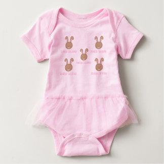 Body Para Bebé Bunbun el conejito - mono del tutú del bebé