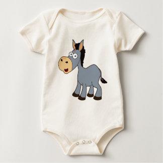 Body Para Bebé burro gris