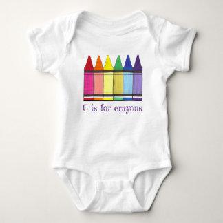 Body Para Bebé C está para el colorante del creyón del arte del