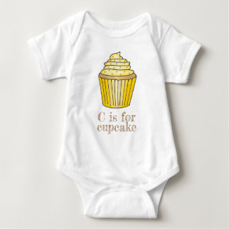 Body Para Bebé C está para el limón del amarillo de la magdalena
