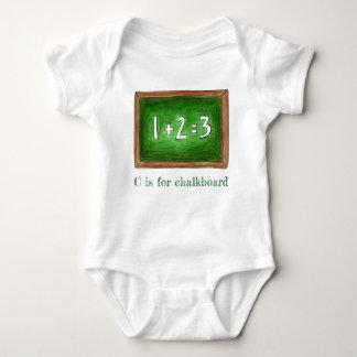 Body Para Bebé C está para la matemáticas ABCs de la pizarra de