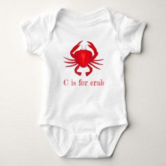 Body Para Bebé C está para la playa malhumorada de los mariscos