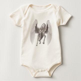 Body Para Bebé Caballo de cuernos con alas unicornio de Pegaso