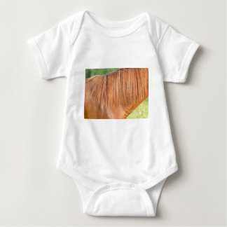 Body Para Bebé Caballo marrón árabe en la opinión del cierre del