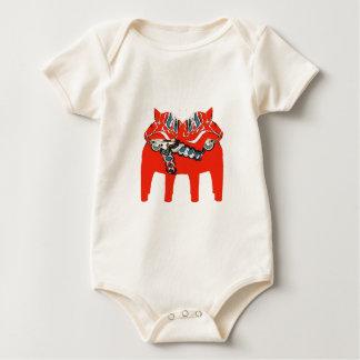 Body Para Bebé Caballos ropa y regalos de Dala del sueco