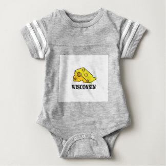 Body Para Bebé Cabeza del queso de Wisconsin