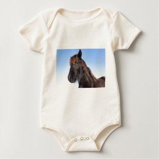 Body Para Bebé Cabeza del retrato del caballo negro del Frisian