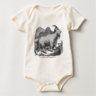 Body Para Bebé Cabra de montaña rocosa americana de las cabras de