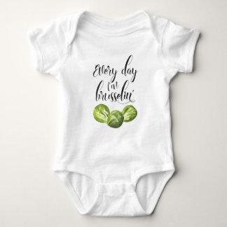 Body Para Bebé Cada día soy mono del bebé de Brusselin', Punny