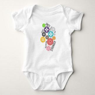 Body Para Bebé Caja fuerte conmigo mono del bebé de los dientes
