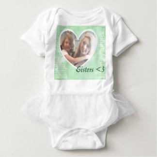 Body Para Bebé Camiseta, parte movible de la foto de la forma del