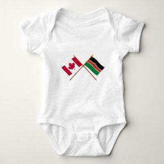 Body Para Bebé Canadá y banderas cruzadas Kenia