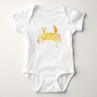 Body Para Bebé Cangrejo amarillo de encargo del watercolour