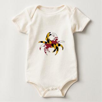 Body Para Bebé Cangrejo de la bandera de Maryland