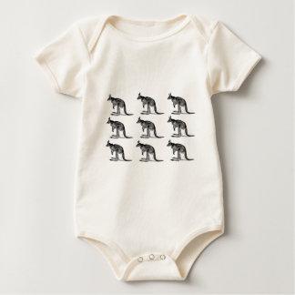 Body Para Bebé canguro encajonado - en cuadrado