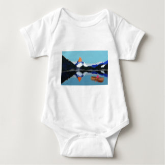 Body Para Bebé Canotaje por arte de las montañas