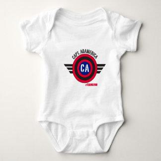 Body Para Bebé Capitán Adamerica Infant Tee