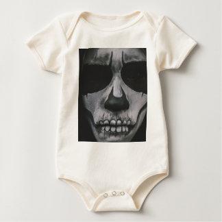 Body Para Bebé Cara asustadiza negra y blanca…