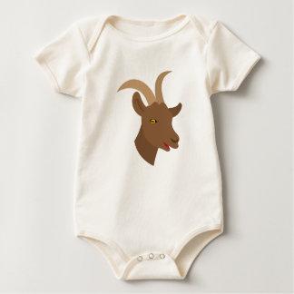 Body Para Bebé cara linda masculina de la cabra