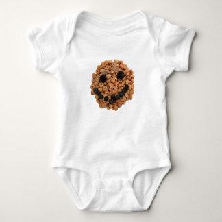 Body Para Bebé Cara sonriente linda de la fruta y del cereal