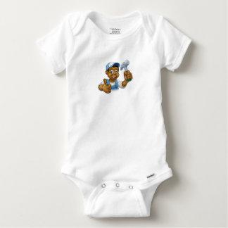 Body Para Bebé Carácter negro del carpintero del dibujo animado