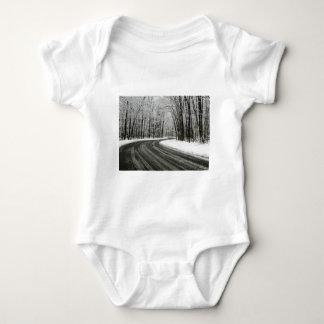 Body Para Bebé Carretera con curvas curvada nieve