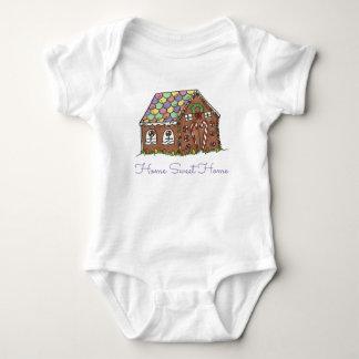 Body Para Bebé Casa de pan de jengibre casera dulce casera del