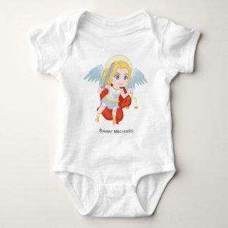 Body Para Bebé Católico lindo del arcángel de San Miguel