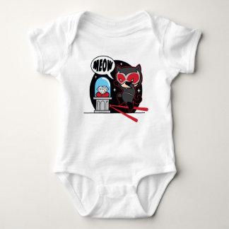 Body Para Bebé Catwoman de Chibi que roba un diamante