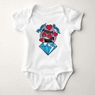 Body Para Bebé Catwoman de Chibi que se sienta encima de diamante