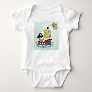 Body Para Bebé Caza del oso del pirata para el tesoro