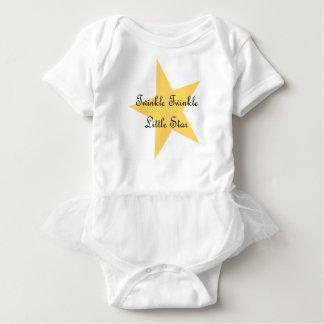 Body Para Bebé Centelleo poco mono de la estrella