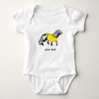 Body Para Bebé chaleco amarillo del bebé del potro