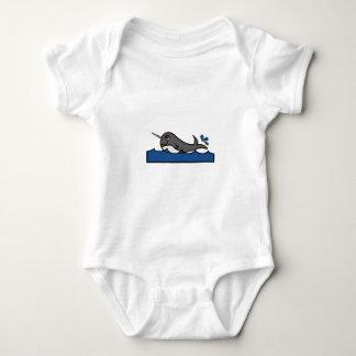 Body Para Bebé Chapoteo de Narwhal