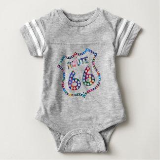 Body Para Bebé ¡Chapoteo del color de la ruta 66!