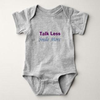 Body Para Bebé Charla menos sonrisa más mono
