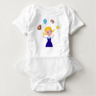 Body Para Bebé Chica de Octoberfest: traje azul