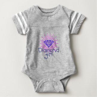 Body Para Bebé chica del diamante, gema que brilla