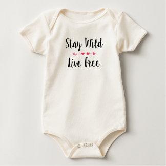 Body Para Bebé Chica libre salvaje y vivo de la estancia