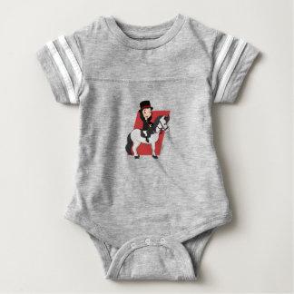 Body Para Bebé Chica que monta un dibujo animado del caballo