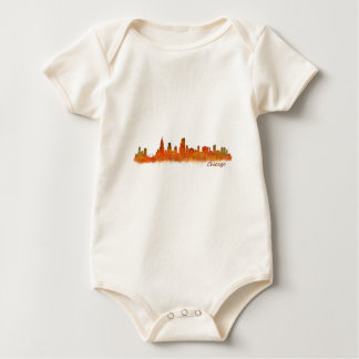 Body Para Bebé chicago Illinois Cityscape Skyline