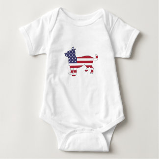 "Body Para Bebé Chihuahua ""bandera americana """
