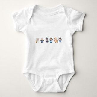Body Para Bebé Científicos en una fila II