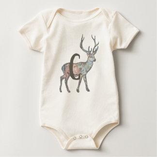 Body Para Bebé Ciervos con la letra C