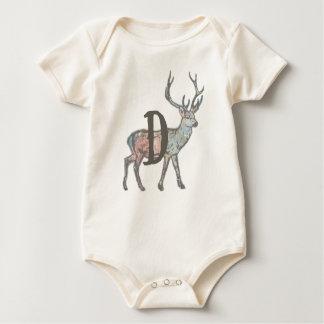 Body Para Bebé Ciervos con la letra D